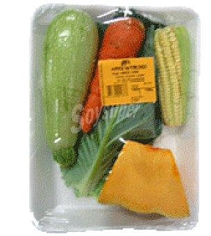 Potaje en colinos de zanahoria, cebolla y calabacín Bolsa de 1000.0 g.