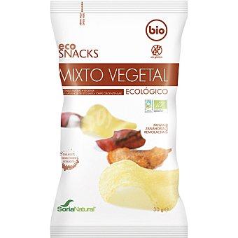 Soria Natural Snack mixto vegetal de patata zanahoria y remolacha Bio Bolsa 30 g