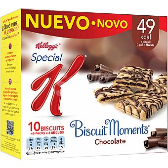 Kellogg's Barrita cereales biscuit moments chocolate Pack de 5x25 g
