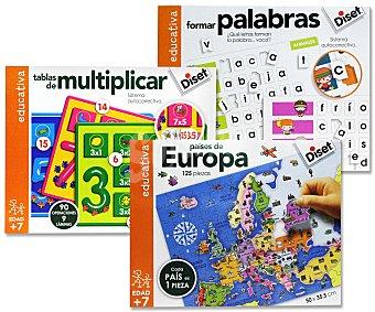 DISET Puzzles Educativos Relacionados con la Geografía 1 unidad