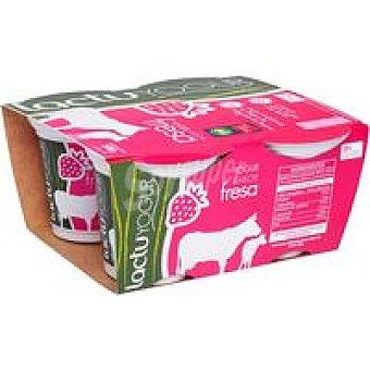 LACTUYOGUR Yogur de fresa Pack 4x125 g