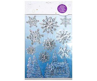 Actuel Hoja con sticker adhesivos 3D con formas de estrellas de nieve y figuras navideñas de diferentes tamaños ACTUEL. Este producto dispone de distintos modelos o colores. Se venden por separado SE SURTIRÁN SEGÚN EXISTENCIAS