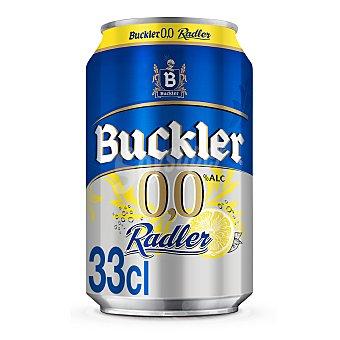 Buckler Cerveza Buckler 0,0 sin alcohol Radler con limón Lata 33 cl