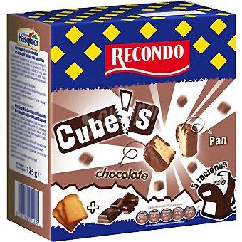RECONDO CUBES pan tostado cubierto de chocolate Estuche 125 g