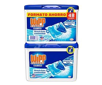 Wipp Express Detergente en cápsulas con quitamanchas activo 48 lavados
