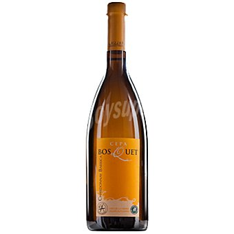 Cepa bosquet Vino blanco chardonnay barrica de Andalucía  botella 75 cl