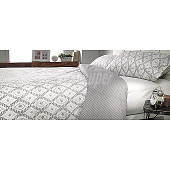 CASACTUAL Jazmín funda nórdica estampada en color gris para cama 105 cm
