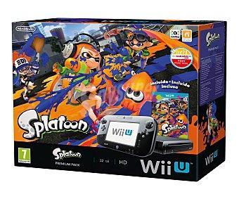 Nintendo Consola Wii U Premium Pack, videoconsola wiiu de 32Gb. con juego Splatoon 1 unidad