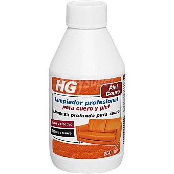 HG limpiador profesional para cuero y piel suave y efectivo botella 250 ml