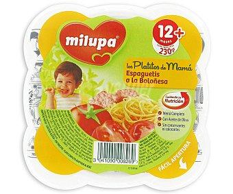 Milupa Platito con espaguetis a la boloñesa 230 g