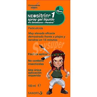 Neositrin 1 spray gel líquido antipiojos con 4% dimeticona+penetrol no contiene insecticidas 100 ml