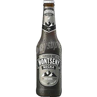 MONTSENY Cerveza artesana negra Stout Ale Botella 33 cl