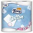 Papel higiénico 5 capas Foxy 4 rollos Cotton