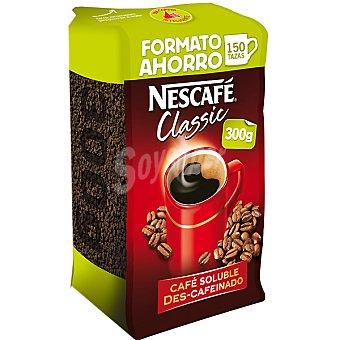 Nescafé Café soluble descafeinado classic 300 g