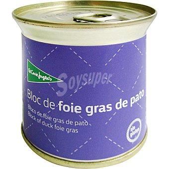 EL CORTE INGLES Bloc foie gras de pato  lata 200 g