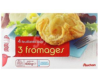 Auchan Hojaldres rellenos de tres quesos (mozzarella, emmental y queso comté rallado) 400 gramos