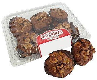 Dulcinova Cookies de avellana con base de cacao, 280 gr