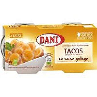 Dani Tacos de potón del pacífico en salsa gallega 2x85g 2x85g