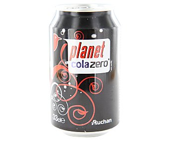 Auchan Refresco de cola Zero sin azúcar Lata de 33 centilitros