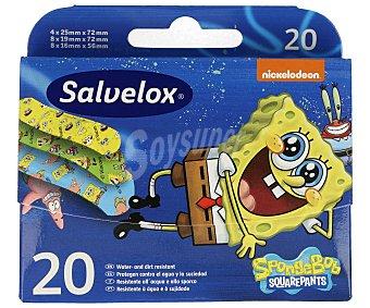 Salvelox Ápositos con dibujos de Bob Esponja 20 uds