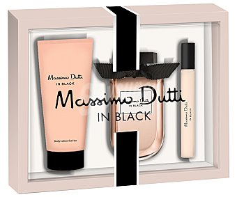 Massimo Dutti Lote mujer in black eau toilette 80 ml + leche corporal 75 ml + eau toilette 15 ml u