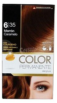 Deliplus Tinte coloracion permanente Nº 6,35 marron caramelo (contiene colageno para hidratar) u