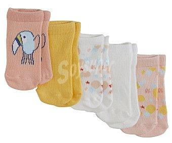 In Extenso Lote 5 pares de calcetines de bebé talla 12/13.