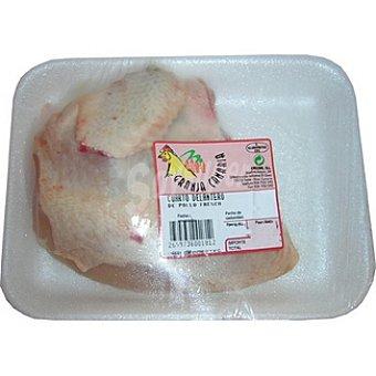 Granja canaria cuarto delantero de pollo peso aproximado  bandeja 350 g