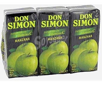 Don Simón Zumo de Manzana Pack 3 Unidades de 20 Centilitros