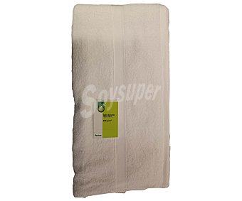 PRODUCTO ECONÓMICO ALCAMPO Toalla lisa de baño de algodón cardado, color blanco, 100x150 centímetros 1 Unidad