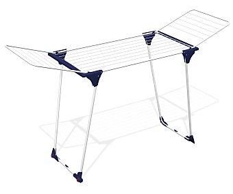 Auchan Tendedero de acero con alas y ruedas en la base, 18 metros lineales de superficie de tendido, modelo Rialto 1 unidad