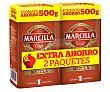 Café molido de tueste natural (50%) y torrefacto (50%) Pack de 2 uds x 500 g Marcilla