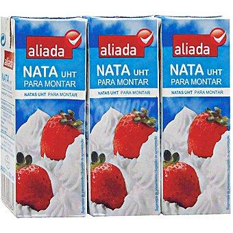 Aliada Nata líquida UHT especial para montar Pack 3 Brik 200 ml