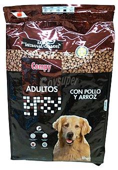 Compy Comida perro adulto croqueta pollo arroz Paquete de 10 kg