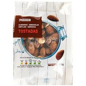 Eroski Almendras tostadas con piel Bolsa 175 g