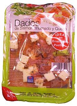 Ubago Salmon ahumado y queso dados al eneldo Bandeja 110 g, escurrido 80 g