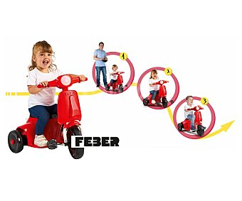Feber Moto de juguete con 3 ruedas y batería, funciones 3 en 1, feber.
