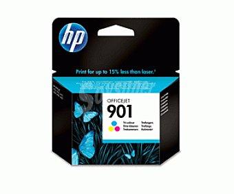 HP Cartuchos de Tinta 901 Tricolor HP (CC656A) 1 Unidad - Compatible con Impresoras: 1 Unidad