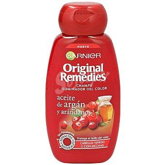 Original Remedies Garnier Champú iluminador del color con aceite de argán y arándanos para cabello teñido o con mechas Frasco 250 ml