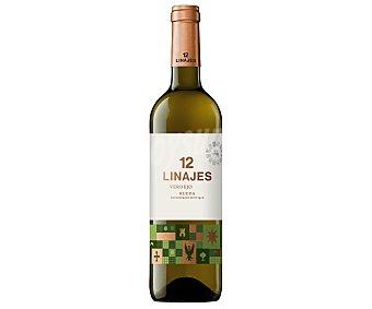 12 Linajes Vino blanco verdejo con denominación de origen Rueda Botella 75 cl