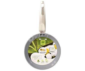 SANTA CLARA Sartén modelo Ecosupreme de 20 centímetros con cuerpo de aluminio, mango antitérmico y recubrimiento Interior antiadherente de cerámica. Apta para todo tipo de cocinas 1 Unidad