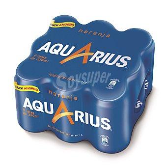 Aquarius Bebida isotónica de naranja Pack 9 x 33 cl
