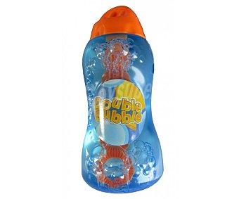 HTI Botella de 125 mililitros con la increible solución Double Bubble, que junto con su varita 2 en 1 hará que hagas 2 burbujas a la vez 1 unidad