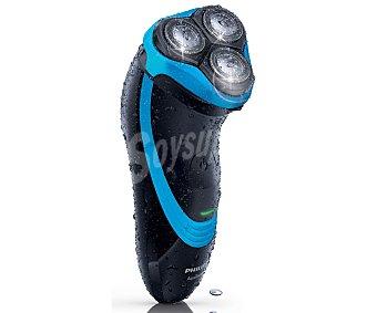 PHILIPS 750/16 Afeitadora eléctrica Aquatouch, alimentación sin cable, uso en seco y húmedo, cabezales flexibles, autonomía de hasta 45 minutos