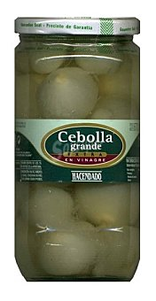 Hacendado Cebolla vinagre grande extra Tarro 670 g escurrido
