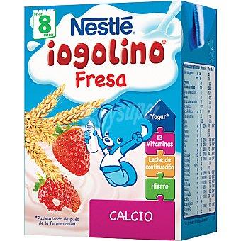 Iogolino Nestlé bebida láctea con cereales y fresa +8 meses envase 200 ml