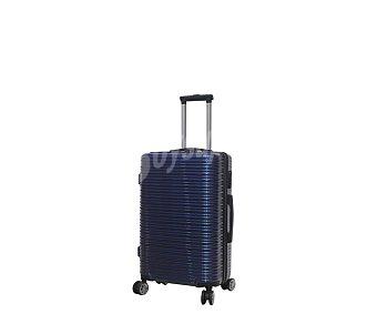 AIRPORT Maleta de 65cm polypro, con 4 ruedas y estructura rígida de ABS de color azul, airport