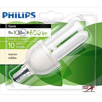 Philips 11W (50 W) lámpara ahorro blanco cálido casquillo E27 (grueso) 220-240 V Genie 1 unidad
