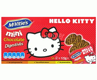 HELL KITTY de MC VITIE'S Galletas Mini Chocolate Digestive 125g