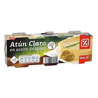 DIA Atún claro en aceite de oliva Pack 3 latas 52 g
